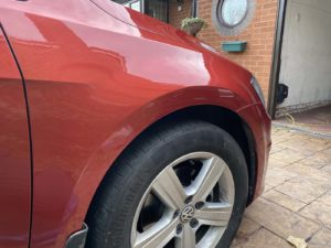 body repair scratch front wheel arch after in Walsall
