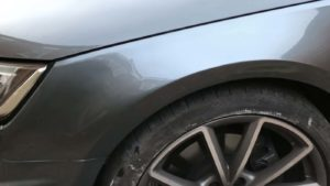 car body repair scratches bmw wheel arch after