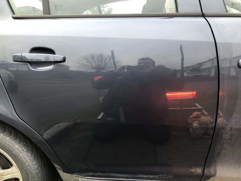 car body repair vandal scratch after