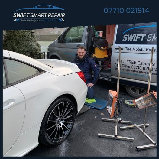 It might be -3 outside but we are still doing smart repairs!...