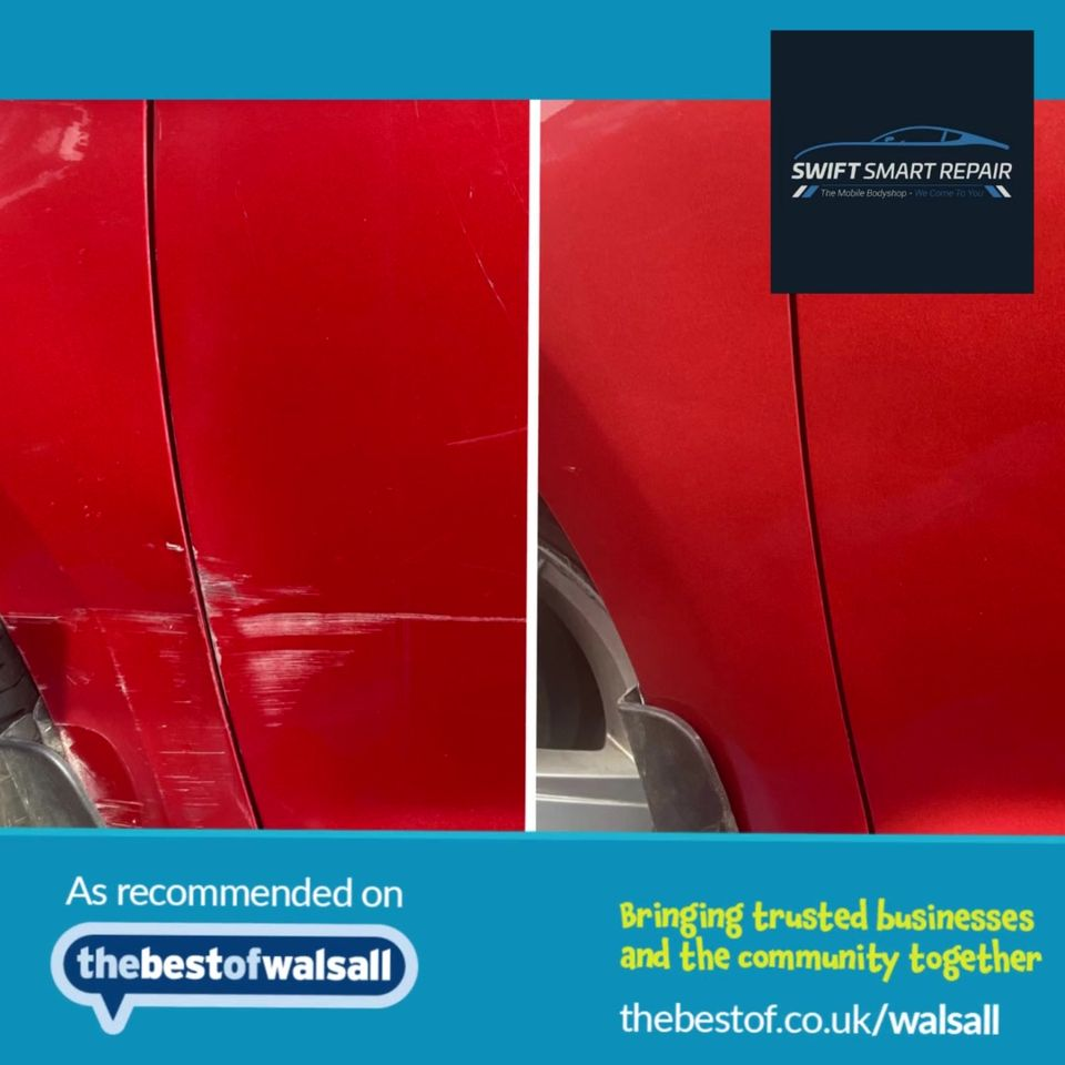 We at Swift Smart Repairs are approved and recommended by The Best of Walsall...